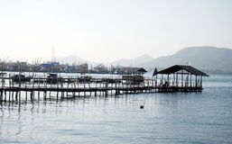 The fisher village. The view of fisher village at Rayong Thailand Royalty Free Stock Photography