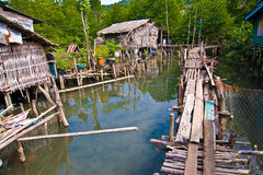 In a fisher village in the mangroves Royalty Free Stock Image