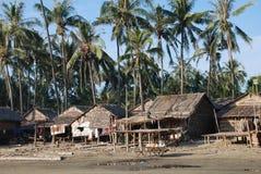 Fisher village Myanmar. Fisher village in Ngapali Myanmar Royalty Free Stock Photo