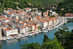 Fisher village. Novigrad, Croatia Stock Photos