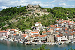 Fisher village. Novigrad, Croatia Royalty Free Stock Photos
