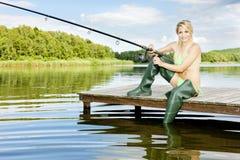 Fisher woman Stock Photos