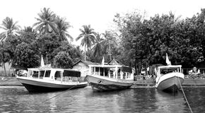 Fisherboat, boat,black and White photography Stock Photo