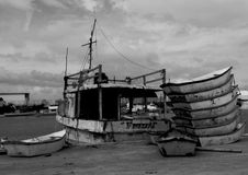 Fisherboat, boat,black and White photography Stock Image