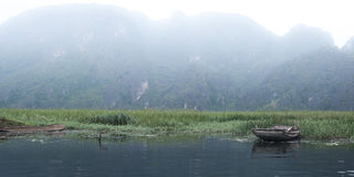 Fisherboat na Czerwonej rzece Obraz Stock