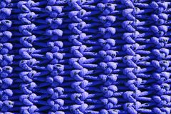 Fisherboat net macro detail texture blue knots Royalty Free Stock Image