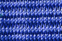 Fisherboat net macro detail texture blue knots Royalty Free Stock Photography