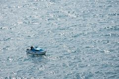 Fisherboat on ocean Stock Photography