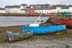 Fisherboats на земле в Claddagh Стоковая Фотография