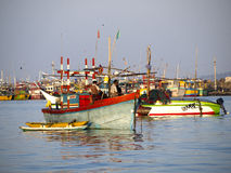 Fisherboats at the Indian ocean Royalty Free Stock Photos