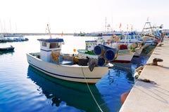 Fisherboats Javea Xabia в порте на Аликанте Испании Стоковое Изображение