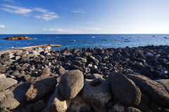 Fisherboats at la palma coast. Fisherboats at the coast near El Remo, La Palma stock photography