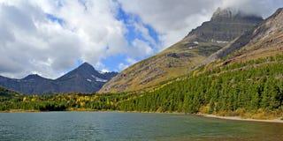 Fishercap Lake in Many Glacier Royalty Free Stock Image