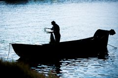 Fisherfolk royalty free stock image