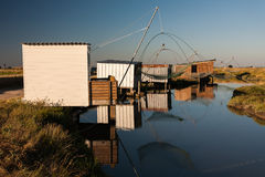 Fisheries of la Louippe in Bouin, France Royalty Free Stock Photo