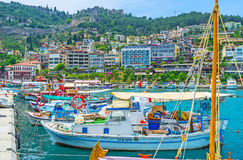 The fisheries port in Alanya Royalty Free Stock Photo