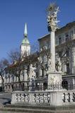 Fisheries Square in Bratislava, Slovakia stock photos