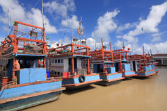 Fishering Boat Royalty Free Stock Photos