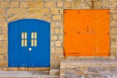 Fisherman's huts, Gozo, Malta. Royalty Free Stock Photos