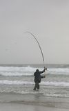 Fisherman. In the water Royalty Free Stock Photography