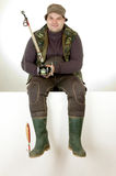 Fisherman. Portrait of a happy fisherman Royalty Free Stock Photo