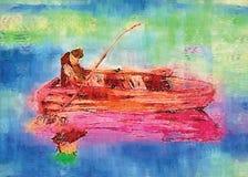 Fisherman stock illustration