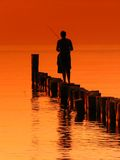 Fisherman. At work in Poland Stock Image