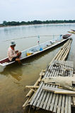 Fisherman. MEKONGR RIVER Chiangkhan Loei Province Thailand Stock Photo
