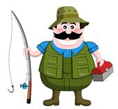 Fisherman. Cartoon fisherman isolated on white background. Eps file is available. You can find other illustrations featuring this character in my portfolio vector illustration