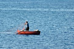 Fisherman. Greek Fisherman Royalty Free Stock Photography