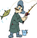 Fisherman stock illustration