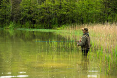 Fisherman in action Stock Photography