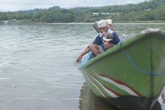 Fisherman. Activity at Gajah Mungkur reservoir, Wonogiri, Jawa Tengah, Indonesia Stock Photo