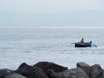 Fisherman alone pescatori royalty free stock photography