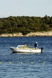 Fisherman And His Boat Stock Photography