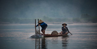 Fisherman Asia Stock Photo