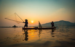 Fisherman Asia Stock Photography