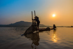Fisherman Asia Royalty Free Stock Photo