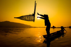 Fisherman Asia Royalty Free Stock Image