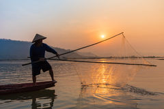 Fisherman Asia Royalty Free Stock Photos
