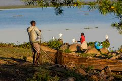 Free Fisherman At Lake Victoria Shore In The Boat, Africa Stock Photos - 116038843