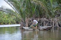Free Fisherman At The Hoi An River, Vietnam Stock Photos - 47854703