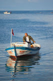 Fisherman At Yumurtalik Royalty Free Stock Image