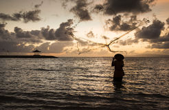 Fisherman of Bali Stock Images