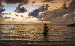 Fisherman of Bali Royalty Free Stock Photo