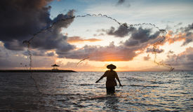 Fisherman of Bali Royalty Free Stock Photos