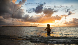 Fisherman of Bali Stock Image