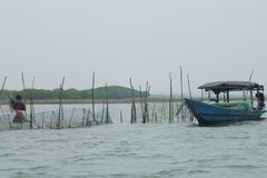 Fisherman& x27; barca di s fotografia stock