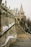 Fisherman bastion. Stairs, Budapest, Hungary stock photography