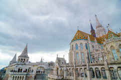 Fisherman Bastion on the Buda Castle hill in Budapest, Hungary Stock Photo